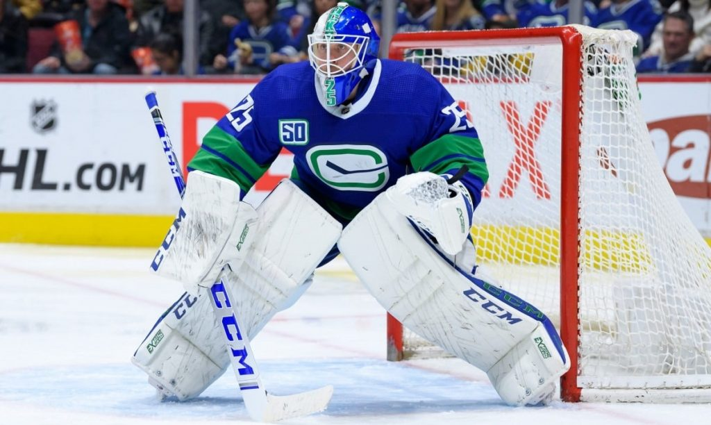 Jacob-Markstrom-Flames-1024x612 NHL Network drops their top 10 goalies list. Lets fix this… Anaheim Ducks Andrei Vasilevskiy Anton Khudobin Ben Bishop Braden Holtby Carey Price Carter Hart Connor Hellebuyck Darcy Kuemper Frederik Andersen Henrik Lundqvist Jacob Markstrom John Gibson Joonas Korpisalo Jordan Binnington Pekka Rinne Philipp Grubauer Robin Lehner Semyon Varlamov