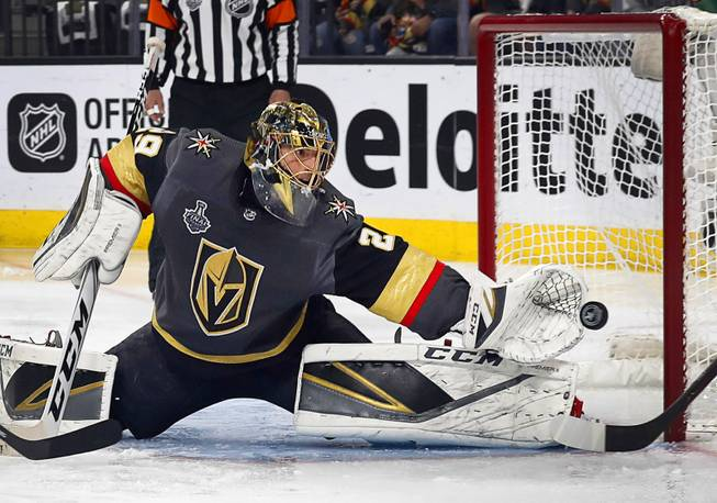 Marc-Andre-Fleury-Knights-4 Never Forget: Marc-Andre Fleury's insane save to take down Mike Babcock for the Leafs Marc-Andre Fleury Vegas Golden Knights