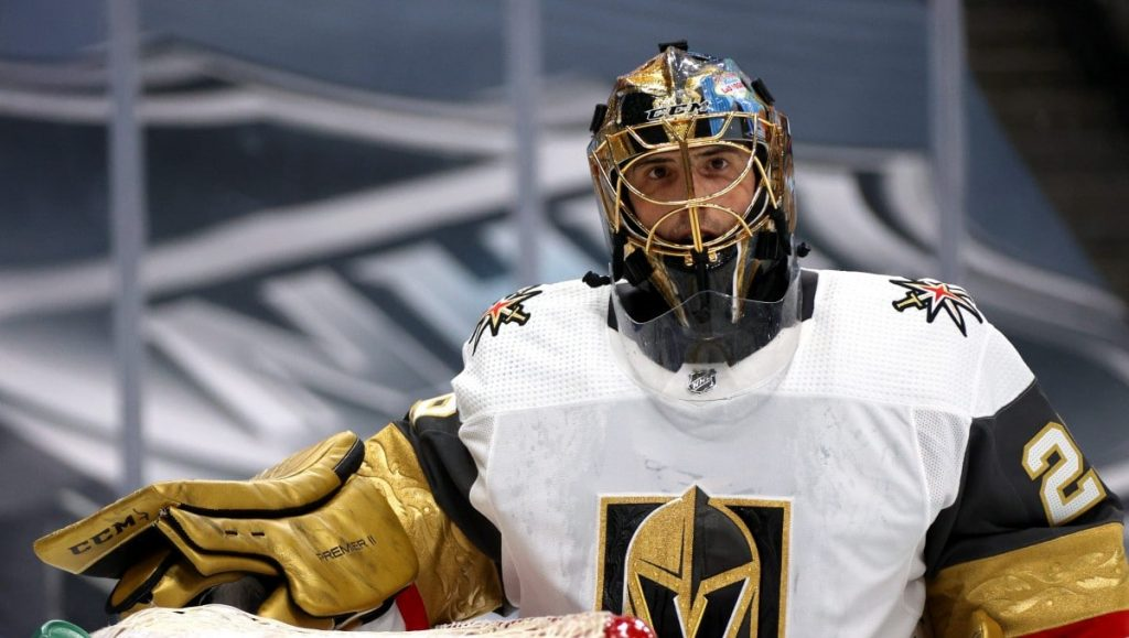 Marc-Andre-Fleury-Knights-White-1024x579 Never Forget: Marc-Andre Fleury's insane save to take down Mike Babcock for the Leafs Marc-Andre Fleury Vegas Golden Knights