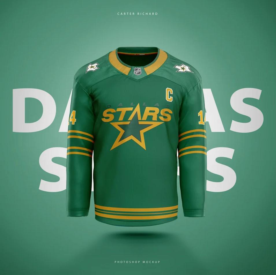 Stars-Jersey-Concept Central Division Jersey Concepts Chicago Blackhawks Colorado Avalanche Dallas Stars Jersey Concepts Minnesota Wild Nashville Predators Winnipeg Jets