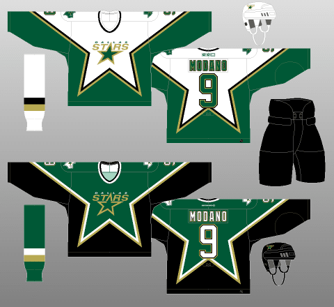 Stars05 A Deeper Look into the Adidas Reverse Retro Jersey: Dallas Stars Dallas Stars Reverse Retro Jerseys