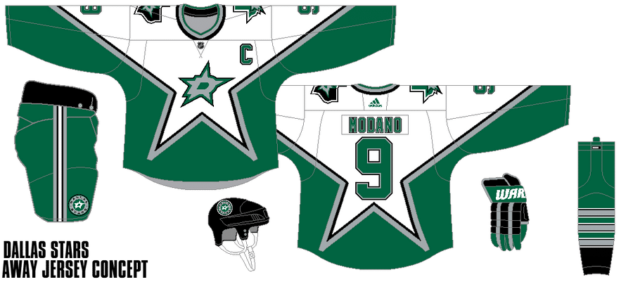 dallas_stars___away_jersey_concept_by_gojira5000_dd88f36-fullview A Deeper Look into the Adidas Reverse Retro Jersey: Dallas Stars Dallas Stars Reverse Retro Jerseys
