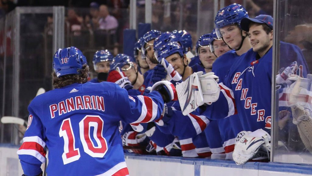 Artemi-Panarin-Rangers-Celebration-1024x577 Top 10 plays from 2019-2020: Artemi Panarin Artemi Panarin New York Rangers NHL