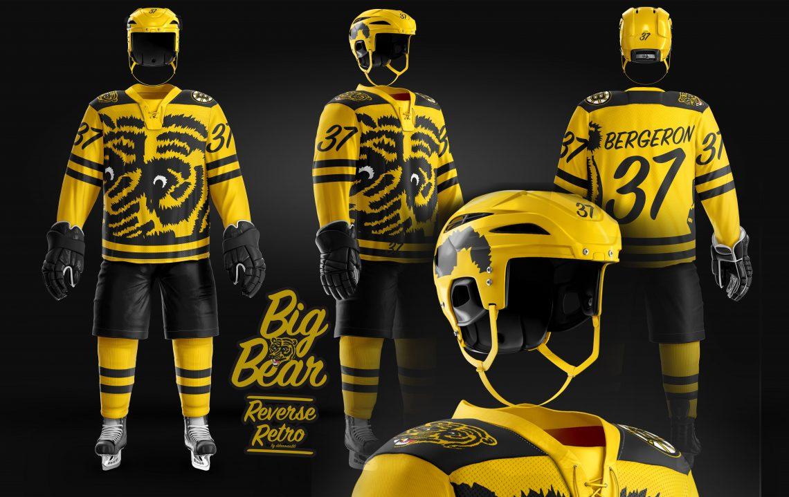 Boston Bruins Reverse Retro Jersey Concept