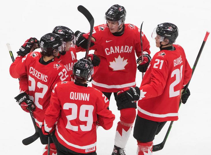 Canada-Czech-WJC-2021 2021 World Junior Championships: Canada 3 - Czech Republic 0 - 1.2.21 2021 World Junior Championships Team Canada Team Czech Republic