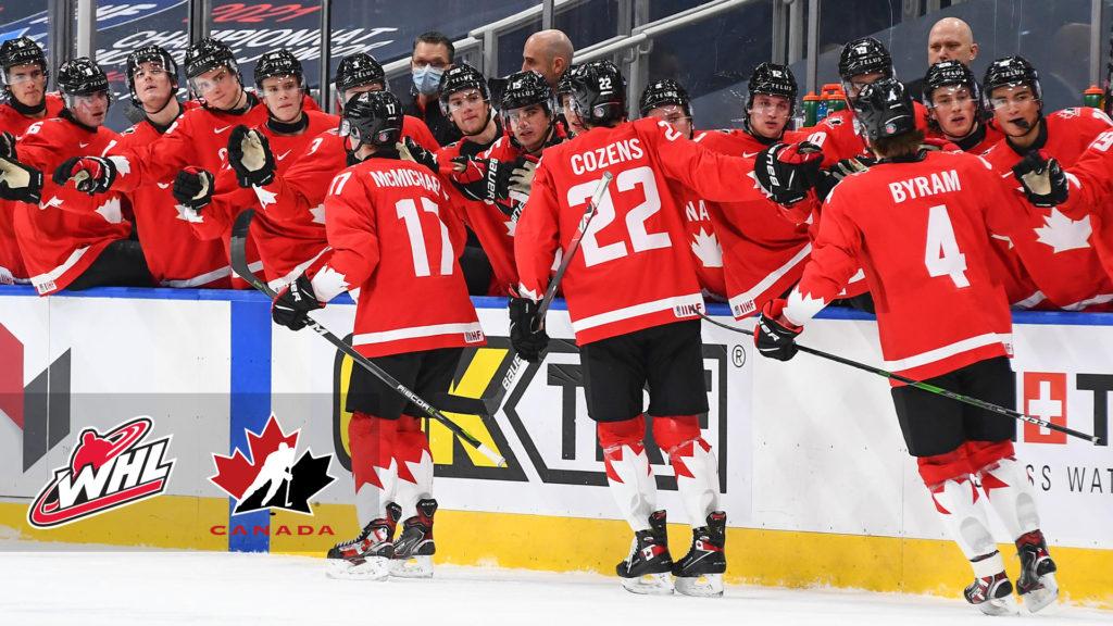 Canada-Win-over-Russia-2021-WJC 2021 World Junior Championships: Canada 5 - Russia 0 – 1.3.21 2021 World Junior Championships Team Canada Team Russia