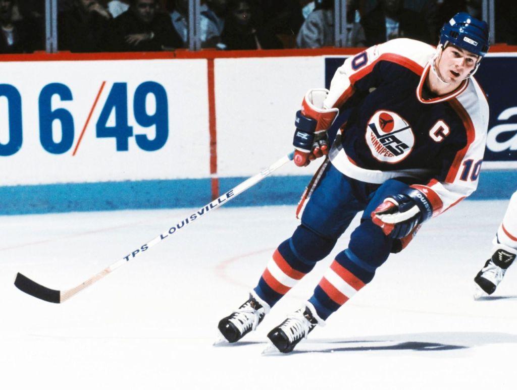Dale-Hawerchuk-Jets-Captain-1024x773 Dale Hawerchuk Buffalo Sabres Dale Hawerchuk Philadelphia Flyers Winnipeg Jets