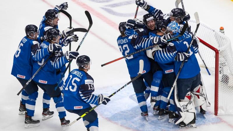 Finland-Sweden-WJC-2021 2021 World Junior Championships: Finland 3 - Sweden 2 - 1.2.21 2021 World Junior Championships Team Finland Team Sweden