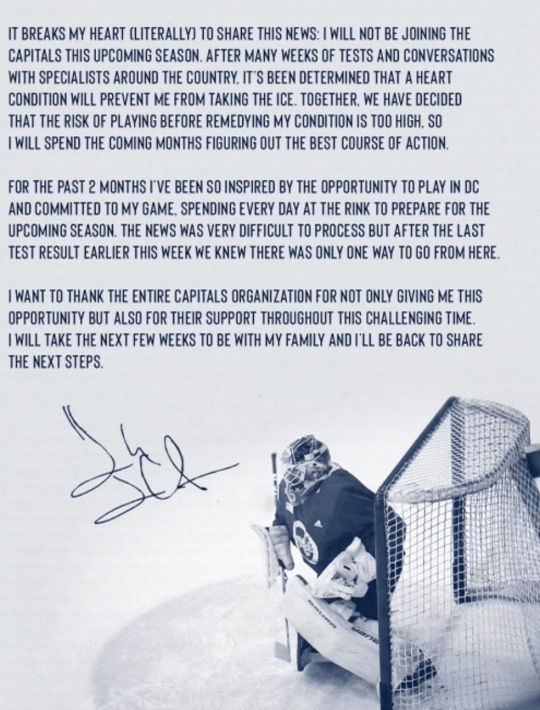 Henrik-Lundqvist-Retirement-Statement-779x1024 Henrik Lundqvist to miss season for the Capitals and potentially retire after heart condition is discovered! Henrik Lundqvist Washington Capitals