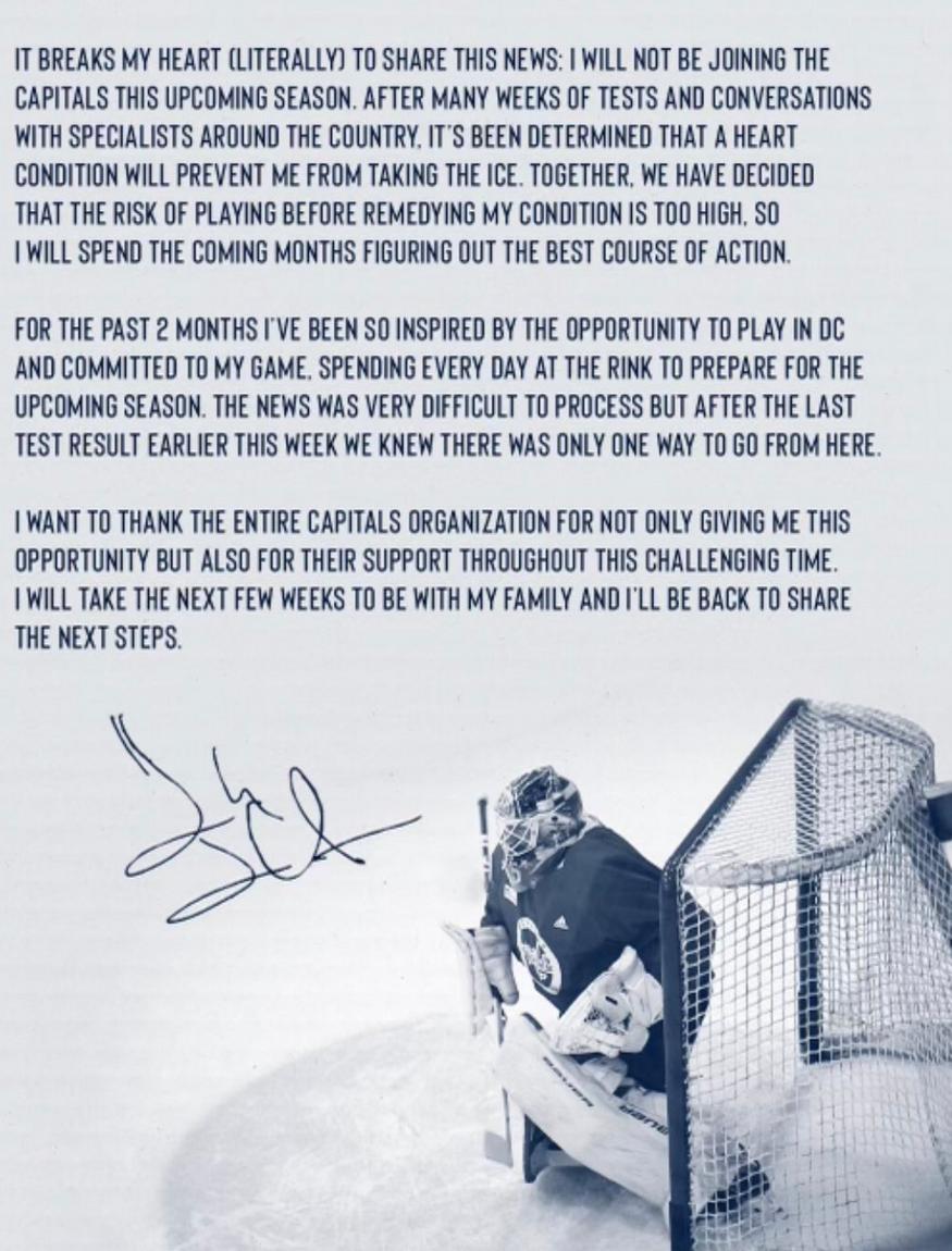 Henrik Lundqvist Retirement Statement