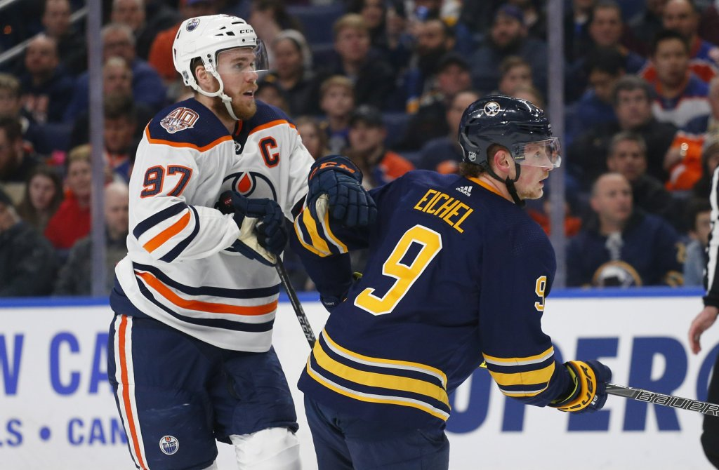 Jack-Eichel-Connor-McDavid-1024x670 Top 10 plays from 2019-2020: Jack Eichel Buffalo Sabres Jack Eichel