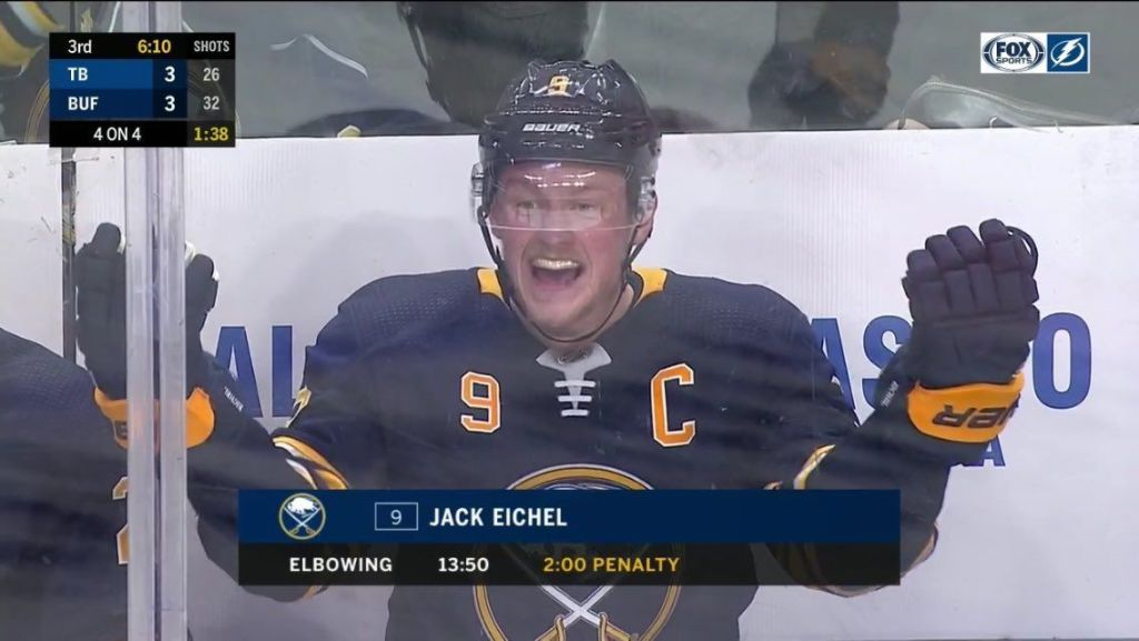 Jack-Eichel-Whining-1024x577 Top 10 plays from 2019-2020: Jack Eichel Buffalo Sabres Jack Eichel