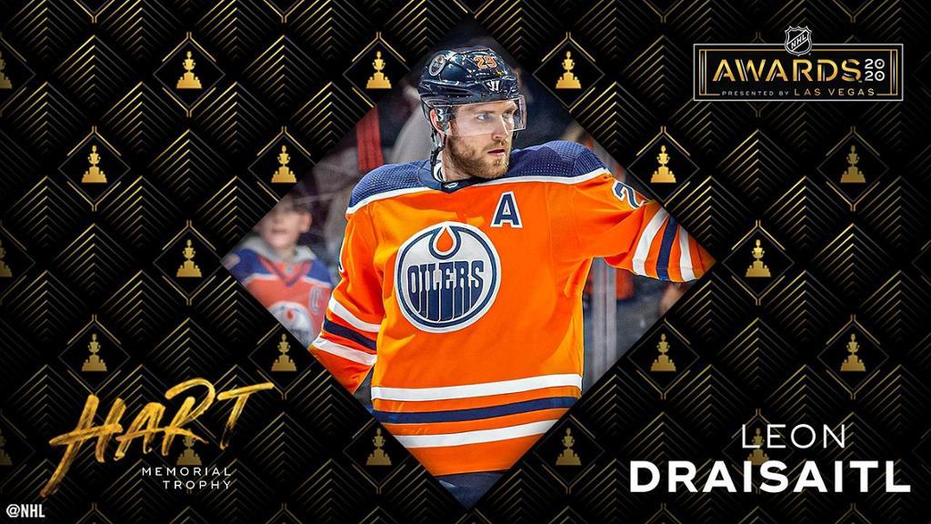 Leon-Draisaitl-Edmonton-Oilers-MVP Top 10 plays from 2019-2020: Leon Draisaitl Edmonton Oilers Leon Draisaitl NHL