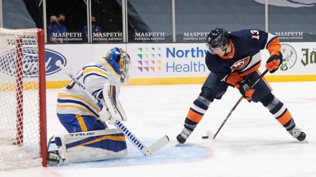 Mathew-Barzal-New-York-Islanders-3 Goal of the Year Candidate: Mat Barzal on Carter Hutton 3.6.21 Mathew Barzal New York Islanders