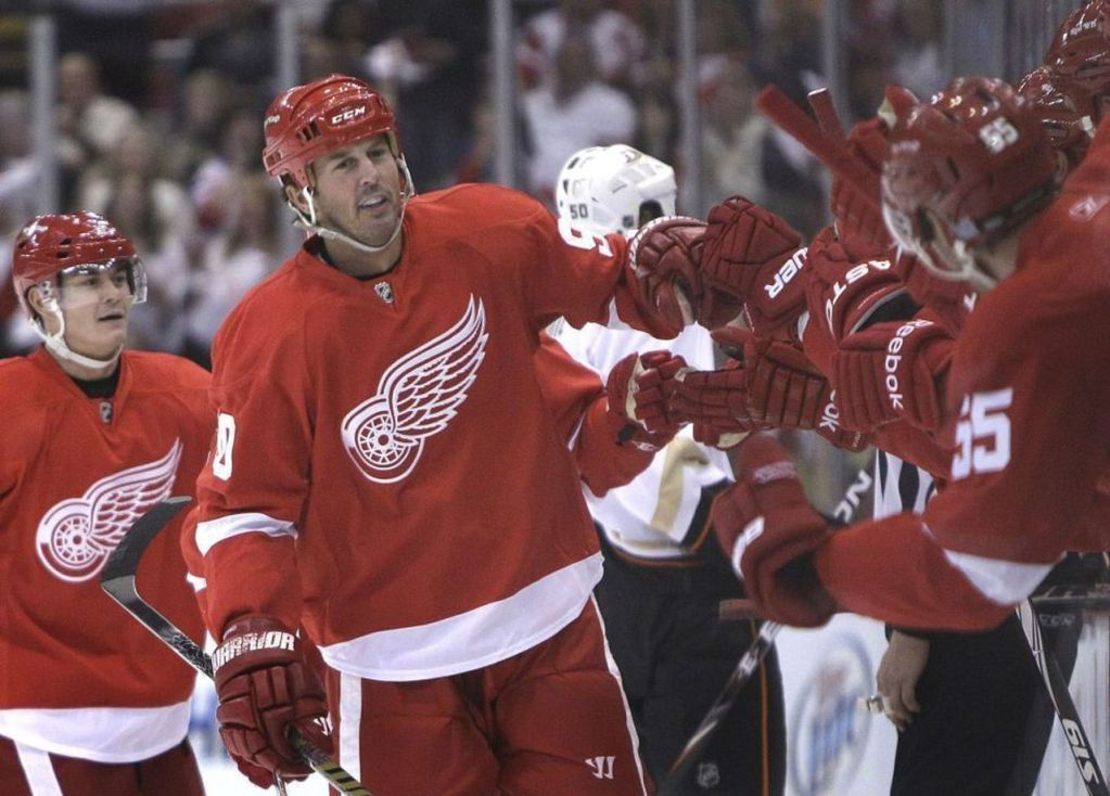 Mike-Modano-Red-Wings-1024x734 Mike Modano Dallas Stars Mike Modano Minnesota North Stars