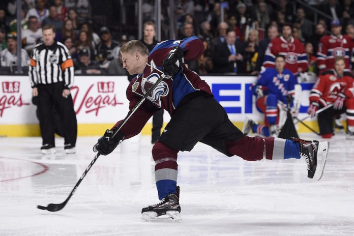 Nathan-MacKinnon-of-the-Colorado-Avalance-Hardest-SHot The High Button Podcast: Nathan MacKinnon - Worth a listen! Colorado Avalanche Nathan MacKinnon