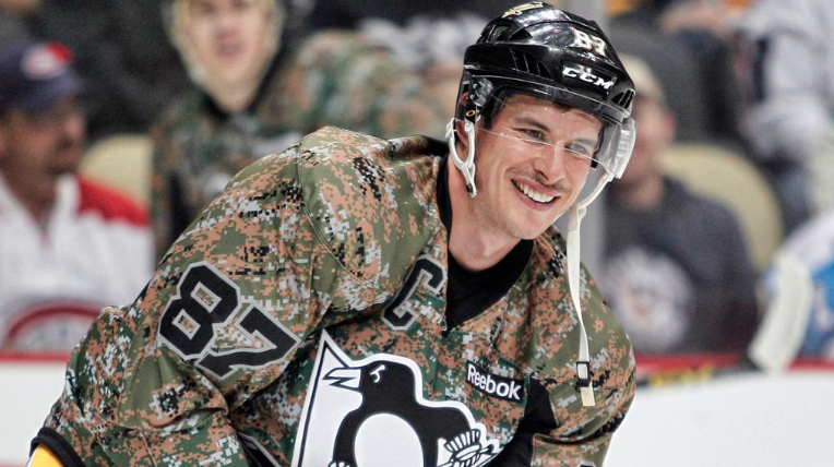 Pittsburgh-Penguins-Sidney-Crosby-Military-Jersey Top 10 Plays from 2019-20: Sidney Crosby NHL Pittsburgh Penguins Sidney Crosby