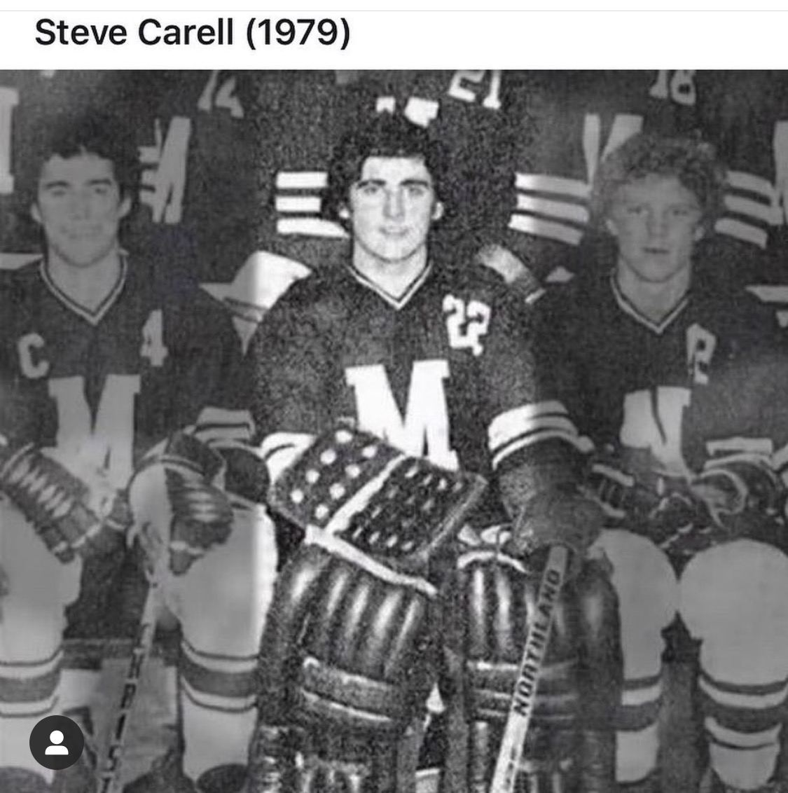 Steve Carell's 1979 Yearbook Hockey Team Photo Michael Scott The Office