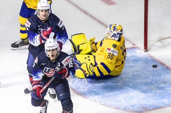 USA-Defeats-Sweden 2021 World Junior Championships: USA – Sweden 12.31.20 2021 World Junior Championships Team Sweden Team USA