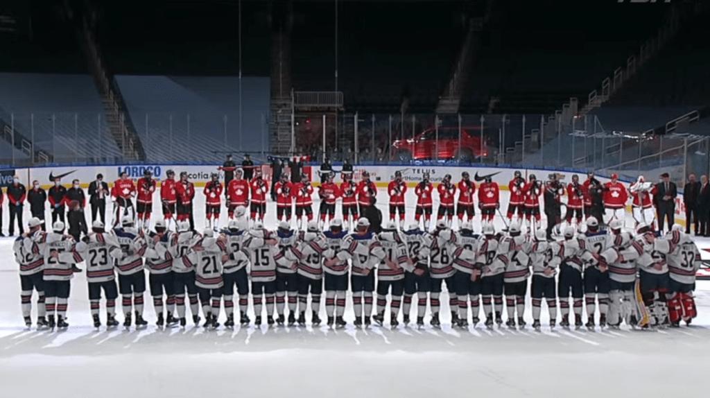 USA-Team-vs-Canada-Individuals-1024x574 2021 World Junior Championships Bronze Medal Game: USA 2 - Canada 0 - 1.5.21 2021 World Junior Championships Team Canada Team USA