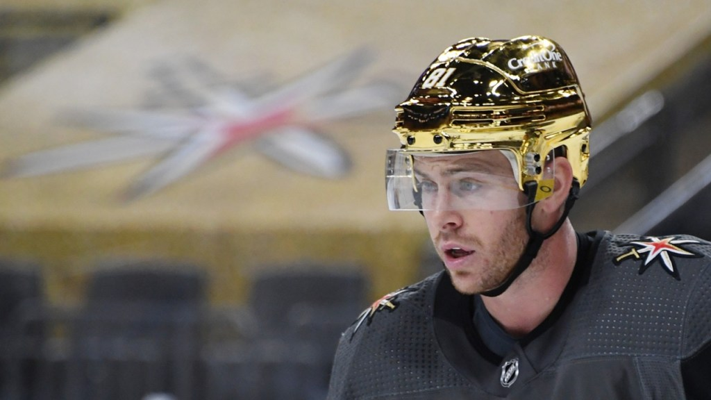 Vegas-Golden-Knights-Gold-Helmets-4-1024x576 The Vegas GOLDEN Knights dropped some gorgeous gold chrome helmets on us! Vegas Golden Knights