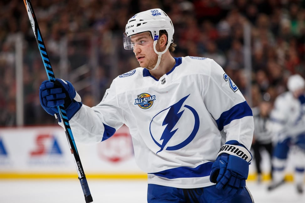 brayden-point-Tampa-Bay-Lightning-Warrior Top 10 plays from 2019-2020: Brayden Point Brayden Point NHL Tampa Bay Lightning